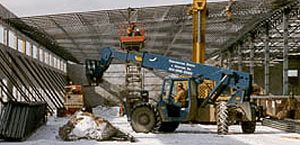 contruction equipment in use